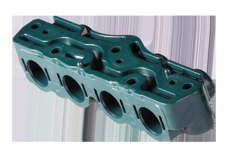 Kompletter Ventilblock aus präzise gefertigtem Duroplast
